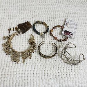 VTG Boho Bracelet lot with 1 Belly Dancer Arm Cuff